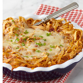 Dinner Tonight:Tomato Basil Pasta Pie