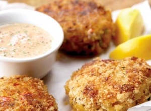 Baked Crab Cakes with Lemon Herb Aioli