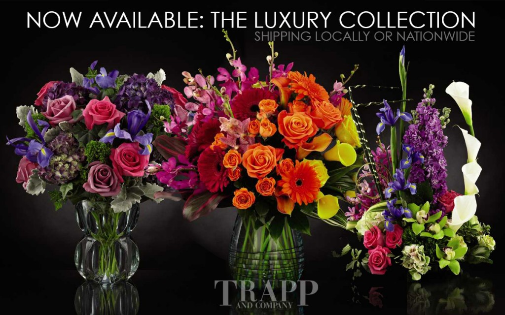 The luxury flower collection from FTD and Trapp and Company